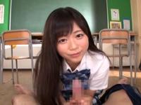 学園のアイドル羽咲みはるが放課後の教室で顔射パコ