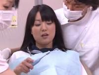 「嫌だよぉ…」ロリっ娘JKが悪徳歯科医師に種付けされてしまう