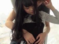 清純な黒髪美少女がイケメンチンポに愛液を垂らしながら本気イキ