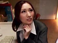 「やめてください…っ」誰も居ないオフィスで上司にムリヤリ犯される巨乳OL・JULIA