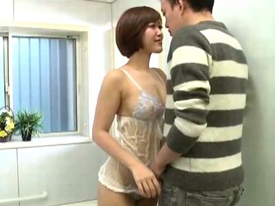「あの人には‥内緒よ?」細身巨乳な美人妻が義兄誘惑して近親不倫!