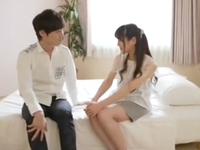 「恥ずかしいよ・・」イケメン男優に緊張気味な清純美女とイチャラブ性交!