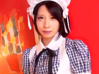 猫耳した美少女メイドと相互センズリ鑑賞→同時イキでどっぷりパイ射!