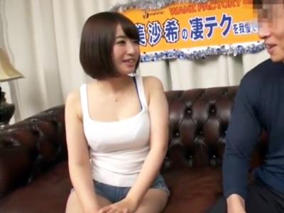 凄テク娘・初美沙希ちゃんの猛攻に耐えれたら中出し本番OK→結果www