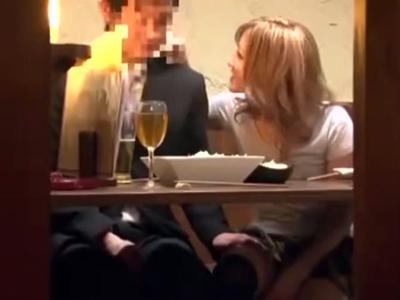 会社の飲み会で最後まで残った二人を盗撮w