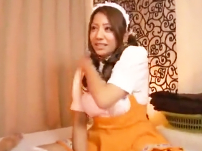 メイド服で来てくれたギャルソープ嬢の極上テクでザーメン暴発!