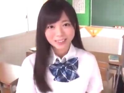 放課後の教室でアイドル顔の巨乳美少女と濃厚パコ!