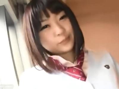 「そこダメぇッ」童顔JKとホテルで生々しいハメ撮り!
