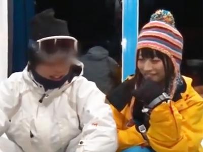 彼氏とスキーに来ていた現役ナース娘を強引にNTRハメでザーメン無許可中出し