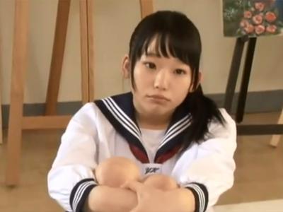 童顔の美少女JKが授業に飽きてしまったので暇つぶしにその場で中出しパコ