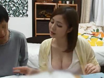 巨乳を見せびらかして誘惑してくる淫乱家庭教師を襲って性処理