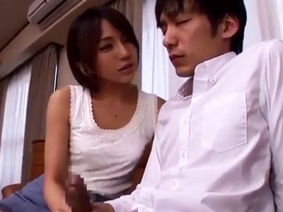 「上手上手w」オナニー指導→中出しさせる変態お姉さん