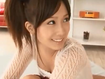 アイドル級美少女の小島みなみがチンポを一生懸命奉仕→大量射精に歓喜