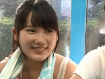 MM号でのパコで想定外の中出しをされてしまいガチ焦り顔を見せる童顔美少女