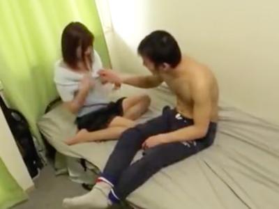 「いっぱい出たぁ」JKコスの美少女とホテルで中出し性交