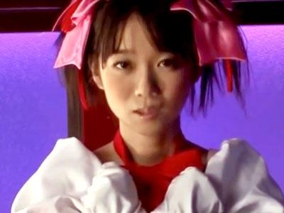 まどマ●みたいな魔法少女のコスプレしたぐうかわロリ美少女にチンポ生ハメ