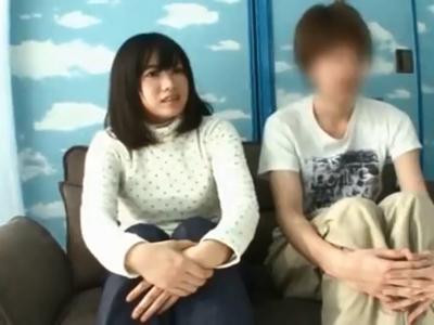 清楚でおっとり系の美少女JD娘がイケメンチンポで本気ピスされてマジイキ