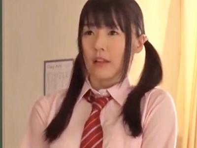 制服JKのつぼみが放課後の教室でガチハメ→ザーメン顔射にうっとり