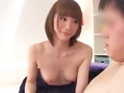 色白の制服美少女JKがおっさん相手に一生懸命奉仕ピストン→丁寧なお掃除フェラ