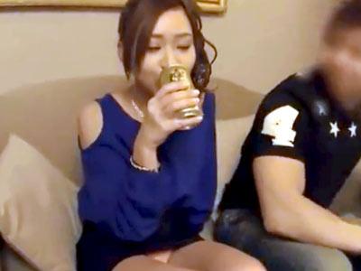 意識高い系お乳デカい系お股ゆるい系の素人ヤリマン巨乳OLを泥酔させてハメ撮り中出し3P