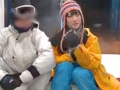 彼氏とスキーに来ていたのにナンパされ他チンポを挿入されちゃう