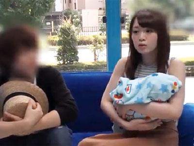「直ぐ終わるんですよね‥?」子供が生まれたばかりの美人妻が他人チンポで犯されて本気イキ
