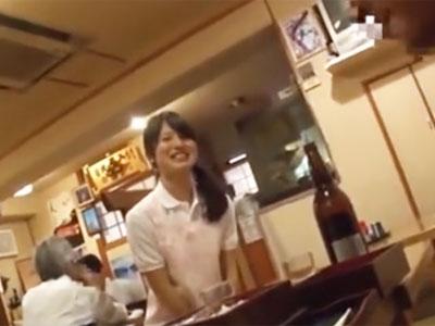 定食屋の若女将レイプ!営業終わりに待ち伏せして店内で顔射パコ