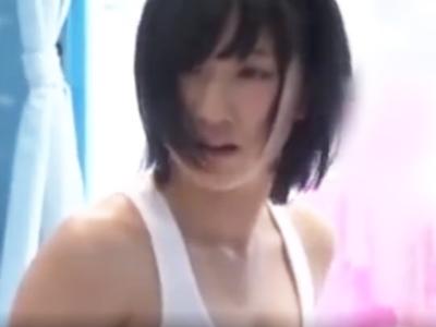 ショトカの地味少女が男友達とマッサパコやっちゃってパイパン膣に中出し!