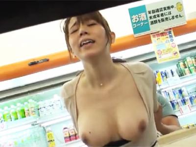 「はっんぁちょっとダメ!ダメいっく…」買い物中の美人奥様が勃起チンポの餌食になって大量中出し