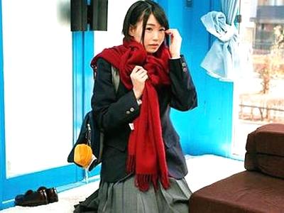 「え?下着…だけじゃ?」学校帰りのマジメ系黒髪JKがMM号で強制ハメ倒し