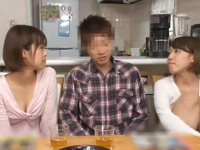 パイパン巨乳美少女な妹2人が発情期でもうチンポが幸せすぎますw
