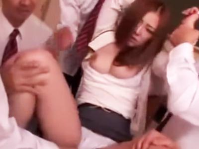 「いい加減にしなさいっ!いや!」巨乳女教師がDQNにレイプされて性奴隷に‥