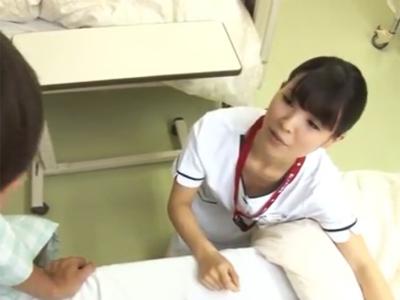 担当のナースさんの胸チラ見て溜まってた性欲が暴走してしまう入院患者