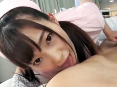精液採取の得意な美少女ナースのハンドテクでこってりザーメンが暴発射精