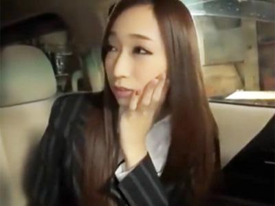 「契約してくれますか‥?」高級車を売るため車内で枕営業する痴女