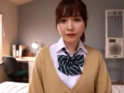 「すっごぃ男くさぃ…」アイドルレベルのJKが先生を誘惑して馬なりパコ!