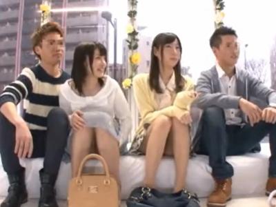 素人カップル二組ナンパ→まさかのスワッピング乱交展開w