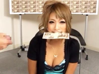 激ピス&電マ責めされても口に咥えた100万円を落とさなかったらゲットw
