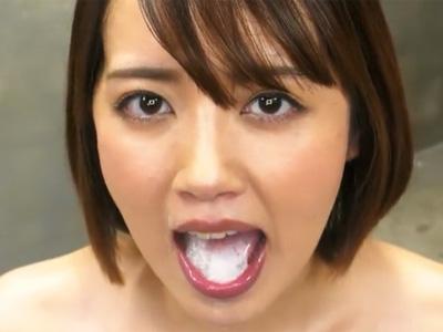 「濃い‥美味しかったですw」美女が次々連続フェラ抜き!搾り取った精子を見せつけごっくん