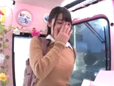 早○田の予備校に通う美少女がMM号で激イキ