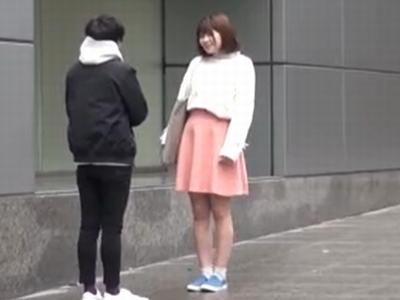 渋谷でナンパされたイマドキJDが訳も分からなぬまま絶叫中出し