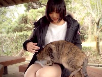 猫が大好きなショトカ美少女が発情→ホテルで濃厚な撮影パコ
