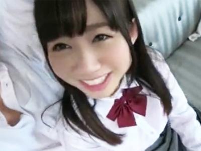 坂○系グループにいそうな可愛い女子〇生がニコニコしながら円光ハメ撮り