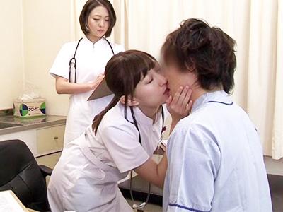 検査中はいつでも美人看護師とキスしっぱなしのディープキスクリニックで中出しSEX!