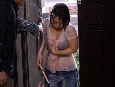 暴風雨の夜…ずぶ濡れになった妻の妹と朝まで近親相姦でハメてやったw