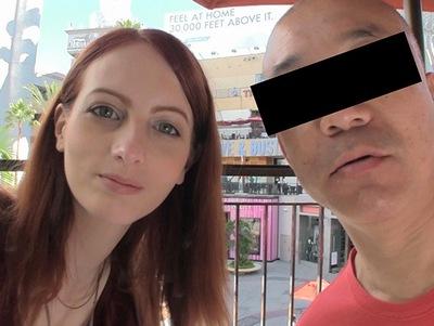 ロサンゼルスでナンパした24歳・人妻!恥ずかしがり屋なのにアメリカ仕込みの超フェラテク