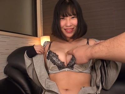 「一番固くしよ…♡」神乳ドスケベボディの素人がヨダレだくだくのフェラからラブラブ個人撮影