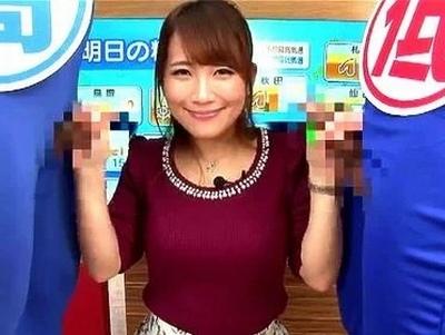 「西高東低のチンポになります♡」笑顔でエロニュースをお送りしてくれる美人女子アナたち!