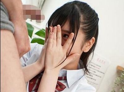 「きゃっ…すごぃ」指の間からバッチリ見てる!JKリフレ嬢に勃起チンポを見せつけた結果w